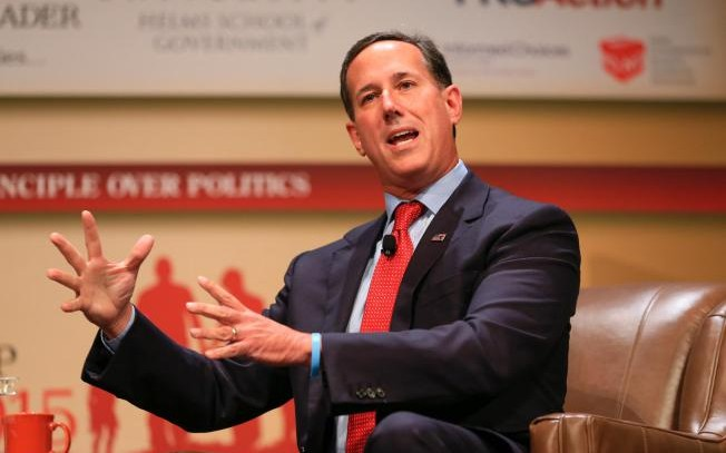 The Latest: Rick Santorum Favors Curbs on Legal Immigration